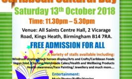 RARF Fundraising Caribbean Cultural Day – Saturday 13th October 2018